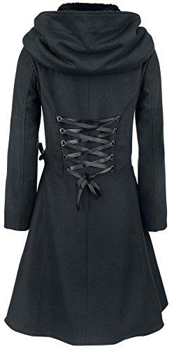 Alchemy Black Tears Coat Abrigo Mujer Negro Negro
