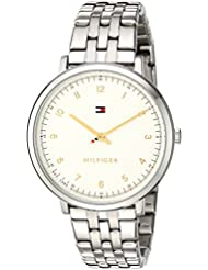 Tommy Hilfiger Womens SPORT Quartz Stainless Steel Casual Watch, Color: Silver-Toned (Model: 1781762)