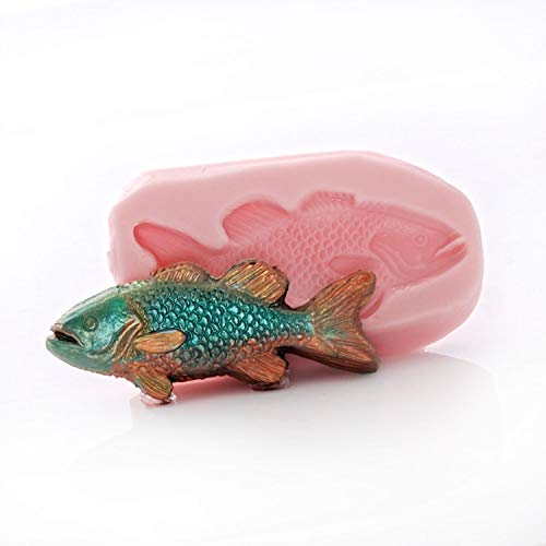 Small Fish Shaped Silicone Mold Fondant Chocolate Resin Polymer Clay Craft Jewelry Mould ()