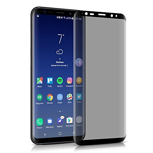 Galaxy S8 Privacy Screen Protector, VIEE 3D Curved Full Coverage Tempered Glass Screen Protector Case Friendly, HD Clear, Scratch Resistant, Bubble Free, Privacy Tempered Glass For Samsung S8(Black)