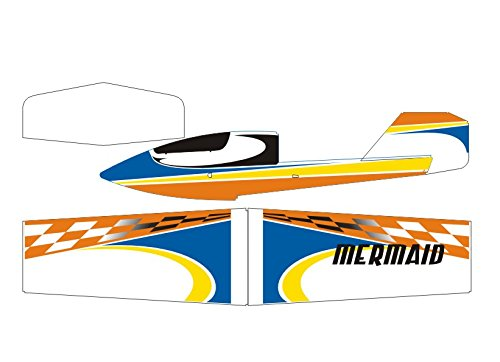Arkai Mermaid Wasserflugzeug Grasrutscher - 1200 mm SpannWeiße (Blau   Orange) Blau   Orange