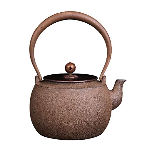 Vintage Teapot 1.3 Liter, Cast Iron Teapot with Infuser, Handmade Kettle, Safe and Healthy, Suitable for Induction Cooker, Electric Ceramic Stove, Charcoal Stove, Gas, Etc by the teapot company (Image #5)