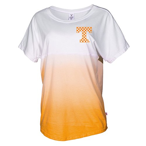 University Tennessee Jersey (Official NCAA University of Tennessee Volunteers, Knoxville Vols UT UTK Women's Tie Dye Short Sleeve Spirit Wear Jersey T-Shirt)