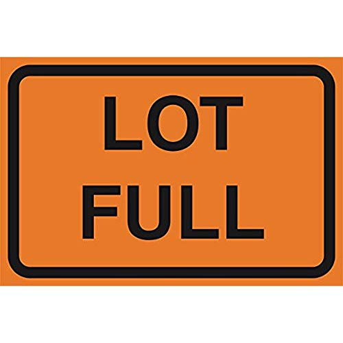 """Diuangfoong Lot Full Orange Road Street Driving Construction Area Zone Safety Notice Warning Business Signs Commercial Sign Aluminum Metal Tin 12""""x18"""" Sign Plate from Diuangfoong"""