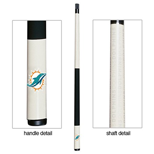 Dolphin Pool Cue - Officially Licensed NFL Miami Dolphins Billiard Pool Cue Stick