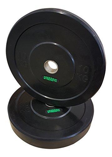 Freedomstrength Premium Gummi Bumper Teller 5 kg, 10 kg, 15 kg, 20 kg