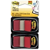Post-it® Standard Marking Flags FLAG,1IN,2PK OF 50,RD (Pack of20)