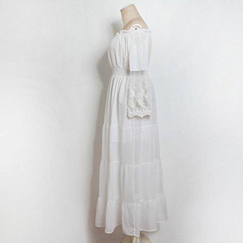 Vestido De Mujer, Xinan Vestido Largo Sin Tirantes De La Playa Del Vestido Del Verano Blanco
