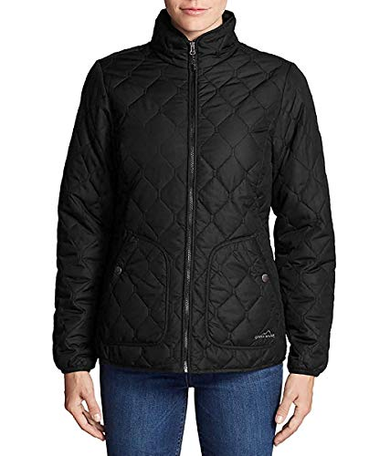 Eddie Bauer Women's Year Round Quilted Field Jacket (Black, Medium)