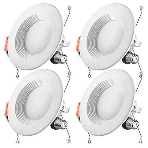 - Otronics 5/6 Inch Dimmable LED Recessed Light Fixture,15W(100w Replacement) 1100 Lumens(CRI90) Daylight 5000k,LED Downlight Retrofit Kit,Energy Star UL-Listed,Pack of 4