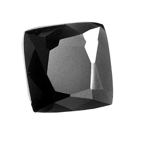 Skyjewels Certified 3.85 Cts Cushion Cut Certified African Black Diamond by skyjewels