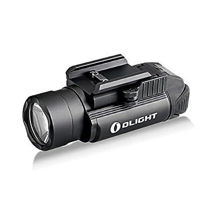 OLIGHT Bundle PL-2,PL2, pl ii Valkyrie 1200 Lumen Rail Mounted Compact Pistol Light with 2 x cr123a Batteries weaponlight Flashlight Patch