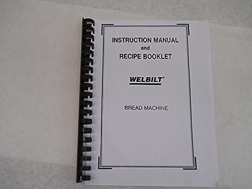 welbilt bread machine manual recipes abm3100 amazon com books rh amazon com Welbilt Bread Machine Replacement Parts Welbilt Bread Machine Replacement Parts