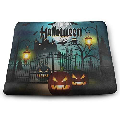Ladninag Seat Cushion Owl Pumpkin Happy Halloween Chair Cushion Hot Offices Butt Chair Pads for Outdoors