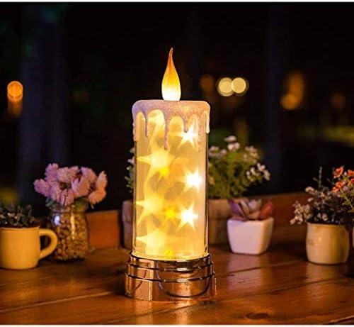BAPYZ Fernbedienung nachtlicht lade kerze meteor lampe sternenhimmel geburtstag kerze nachtlicht nach hause mit