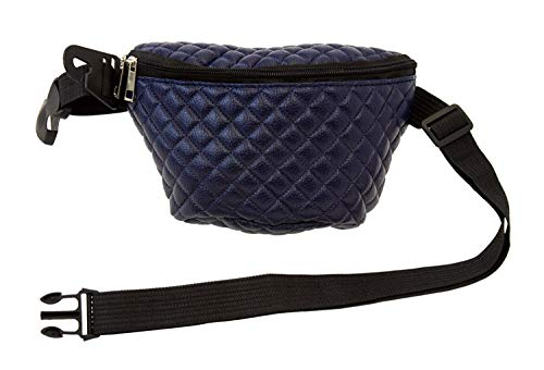Large Quilted Fanny Pack in Blue - Women, Cute Travel Fanny Pack Festival Rave Clothing