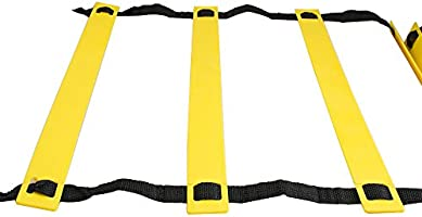 risingmed velocidad escalera de agilidad, material agilidad velocidad formación escalera + bolsa de transporte negro, 12 pies 8 escalones escalera de agilidad para fútbol fútbol tenis entrenamiento de velocidad CrossFit entrenamientos de