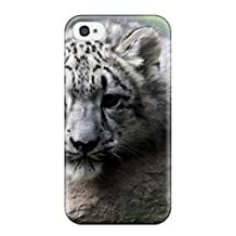 Faddish Phone Snow Leopard Case For Iphone 4/4s / Perfect Case Cover
