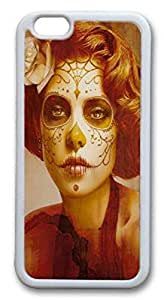 iPhone 6 plus Case by Xunhome ART- the Aesthetic Skull Woman Face_ -iPhone 6 plus Case, iPhone 6 plus (5.5'') Case - Fashion Designed Style Colorful Painted TPU Soft Cover Case for iPhone 6 plus(5.5)''
