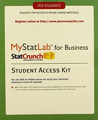 MyStatLab with eText for Business Statistics -- Standalone Access Card