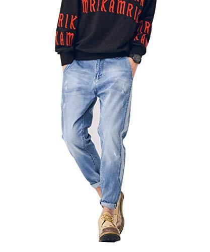 Distrutto Dai Ragazzo Di Da Blau2 Vintage E Pantaloni Uomo In Comodi Moda Denim Morbidissimi Iq1U6Yw