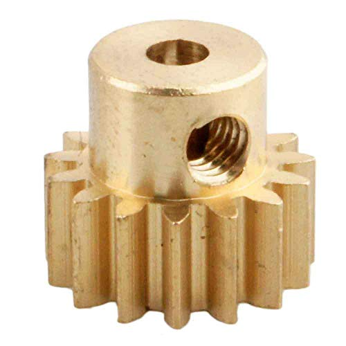 Toyoutdoorparts RC 11185 Brass Pinion Gear (15T .8 Module) Fit Redcat Racing 1:10 Volcano-EPX Electric Monster Truck
