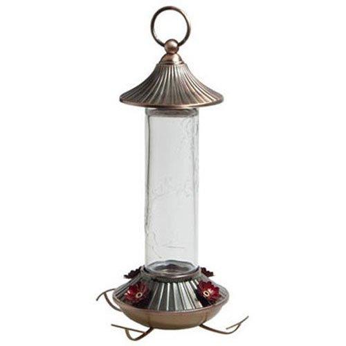 Audubon Etched Glass Hummingbird Feeder, 14-Ounce