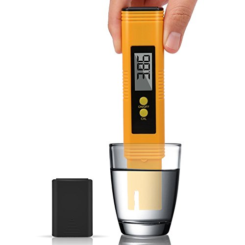 Digital PH Meter, 0.01 Resolution Pocket Size Water Quality Tester with ATC 0-14 pH Measurement Range for Household Drinking Water, Aquarium, Swimming Pools, Hydroponics