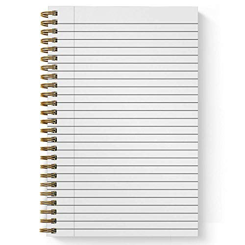 """Wonderfully Made Personalized Notebook/Journal, Laminated Soft Cover, 120 College Ruled or Checklist pages, lay flat wire-o spiral. Pick your size, 8.5"""" x 11"""", 5.5"""" x 8.5"""". Made in the USA Photo #2"""