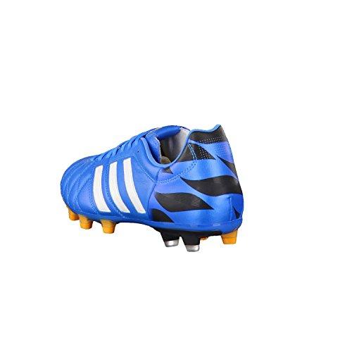 Adidas 11 Pro Fg Mens Läder Fotboll Stövlar / Knapar Vit-blå