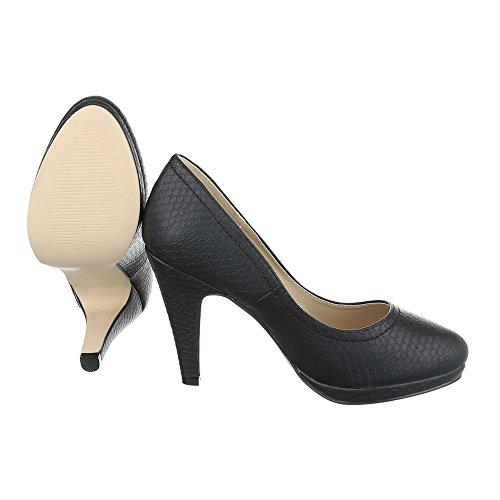 Ital-Design - Plataforma Mujer Schwarz 2066-P