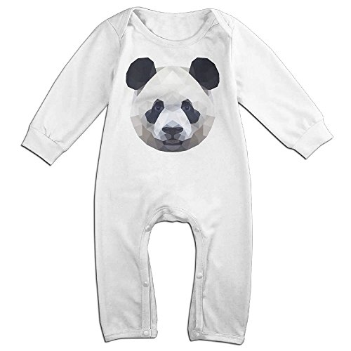 Baby Girls Boys Geometric-panda Long Sleeve Romper Climb Clothes 12 Months White (White Van Halloween Costume)