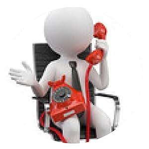 alfombrilla de ratón teléfono Hombre en la silla - ronda - 20cm