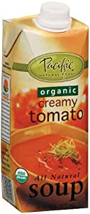 Pacific Natural Foods Organic Soup, Creamy Tomato, 16-Ounce Cartons (Pack of 12)
