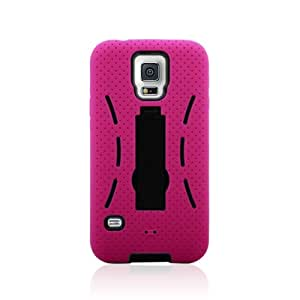 Minnesota Computers S5 Armor Case 2-in-1 Cover with Stand Works with Galaxy S5 (Pink)