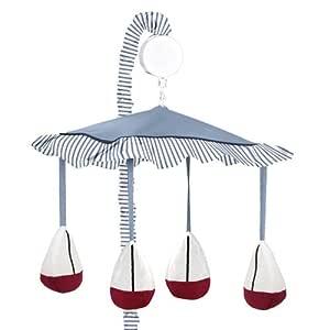 Sweet Jojo Designs Musical Baby Crib Mobile - Come Sail Away