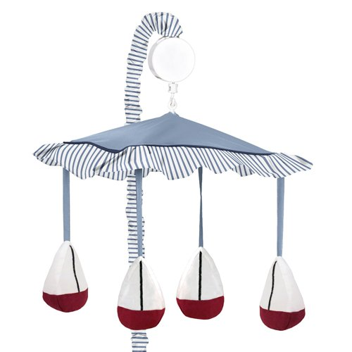 Sweet Jojo Designs Musical Baby Crib Mobile - Come Sail Away