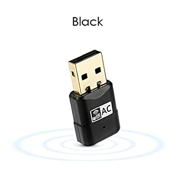 ZHUOTOP - Adaptador USB WiFi de 600 Mbps, 2,4 GHz, 5 GHz ...