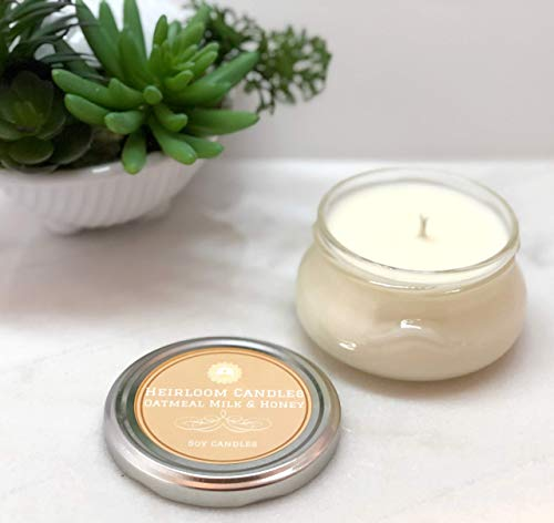 Oatmeal Milk & Honey Soy Candle - Floral Honey Candle - Handmade, 6oz ()
