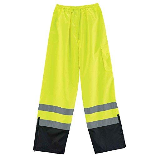 Ergodyne GloWear 8915BK ANSI Black Bottom High Visibility Lime Safety Rain Pants, 2XL by Ergodyne (Image #4)