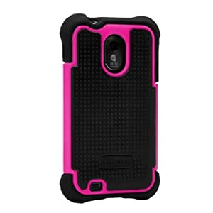 Ballistic SA0774-M365 Soft Gel Case for Samsung epic  - 1 Pack - Carrying Case - Retail Packaging - Black/Pink