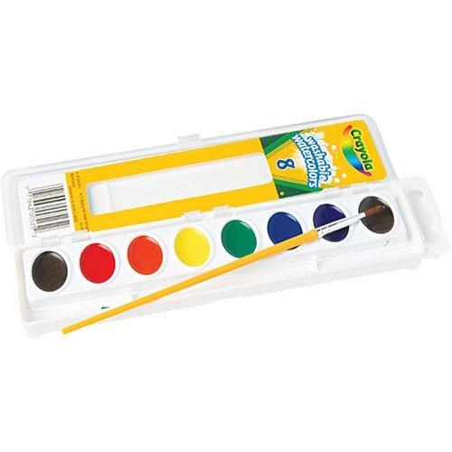 Crayola 53-0525 Crayola Washable Watercolor Paint, Assorted (Moist Watercolor Semi Washable)
