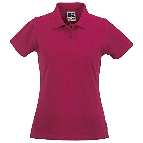 (Russell Europe Womens/Ladies Classic Cotton Short Sleeve Polo Shirt (Medium (US 10)) (Fuchsia))