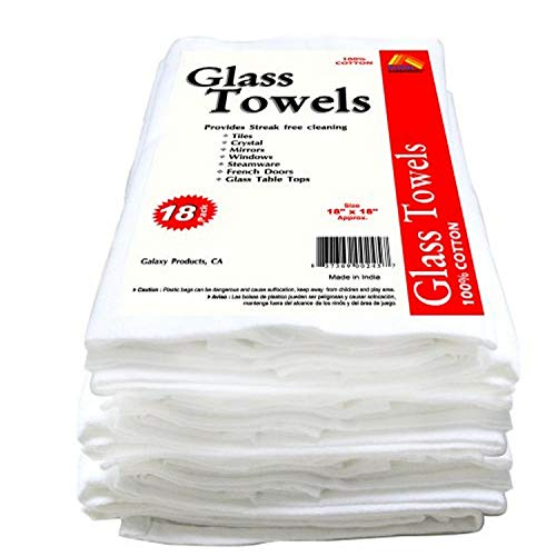 Galaxy Glass Cleaning Towels, 18-Pack GT18