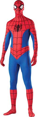Miles Morales Costume (Rubie's Costume Men's Marvel Universe Spider-man Adult 2nd Skin Costume, Multi, Medium)