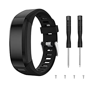 YASPARK Compatible Garmin Vivosmart HR Bands, Replacement Soft Silicone Bracelet Sport Strap Wristband Accessory with Screwdriver for Garmin Vivosmart HR (NOT for Vivosmart HR+)
