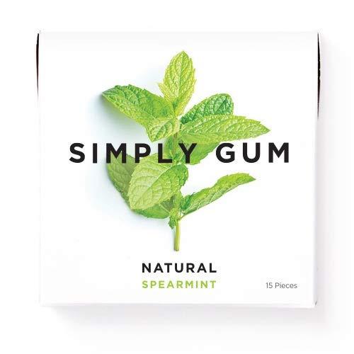 (Simply Gum   Chewing Gum   Spearmint   Vegan + non GMO   Pack of Six (90 Pieces)