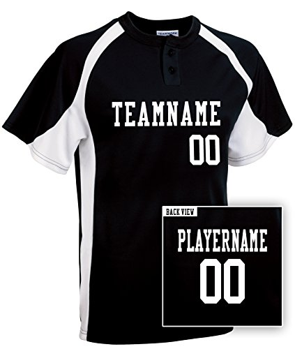 Adult Custom Baseball 2-Button Jersey, Personalize with YOUR Names & Numbers-M (Heavyweight Two Button Jersey)
