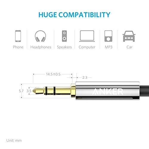 Amazon Anker 35mm Premium Auxiliary Audio Cable 4ft 12m