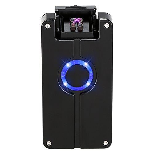 Kivors Plasma Arc Beam Lighter, USB Rechargeable Electric Windproof Arc Lighter Holiday Festive Gift – no Butane – splashproof – Flameless
